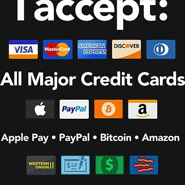 All Types of Payments Accepted & BACON! by feastoffun