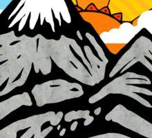 Mountain Wanderlust. Sticker