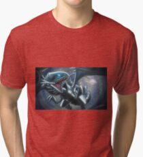 Emerging Blue-eyes White Dragon Tri-blend T-Shirt