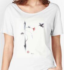 Sweetness - Hummingbird & Flower Painting Women's Relaxed Fit T-Shirt