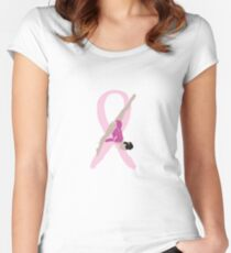 Breast Cancer Awareness: Laurie Hernandez Women's Fitted Scoop T-Shirt
