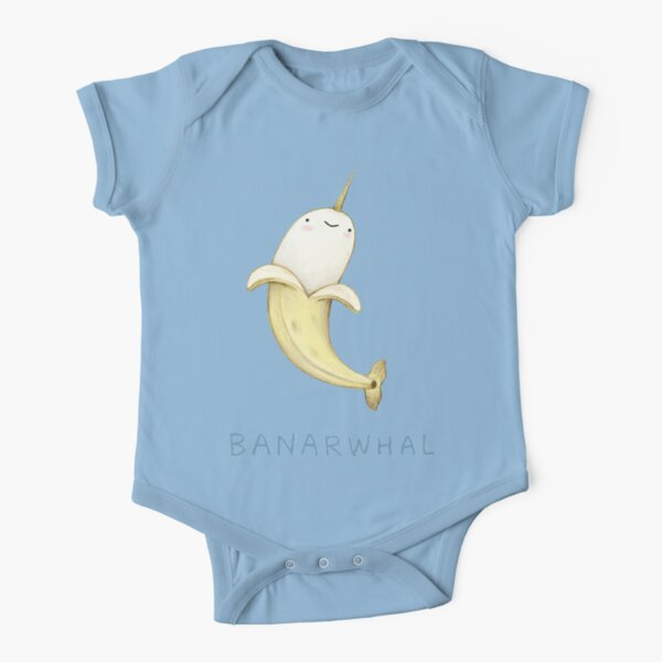 Banarwhal Short Sleeve Baby One-Piece
