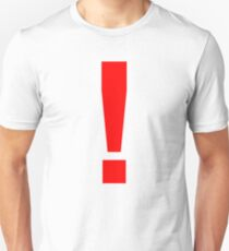 """Red Exclamation Mark """"!"""" T-Shirt"""