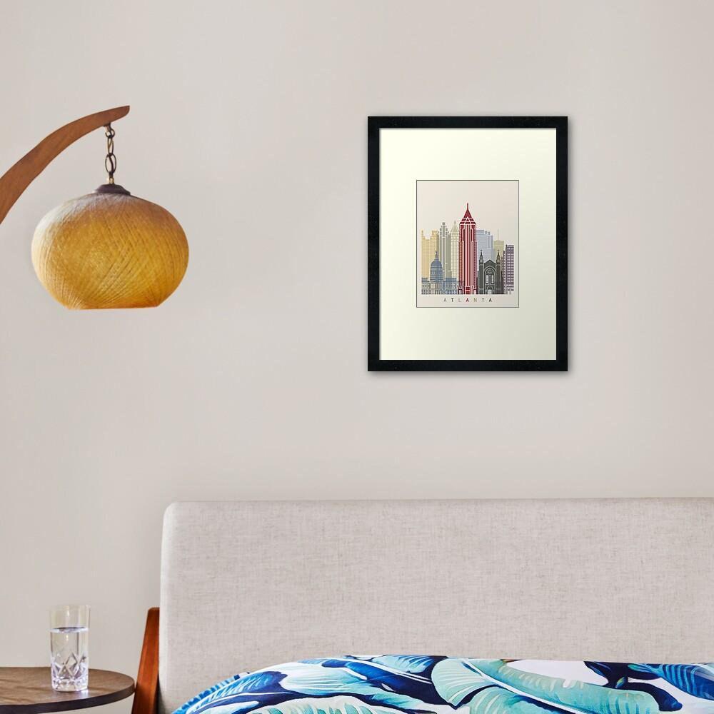 Atlanta skyline poster Framed Art Print