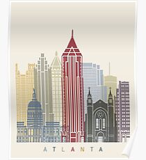 Atlanta skyline poster Poster
