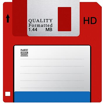 Red Floppy Disk by ProBEST