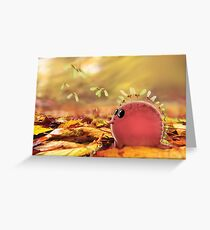 Autumn dino helicopters.  Greeting Card