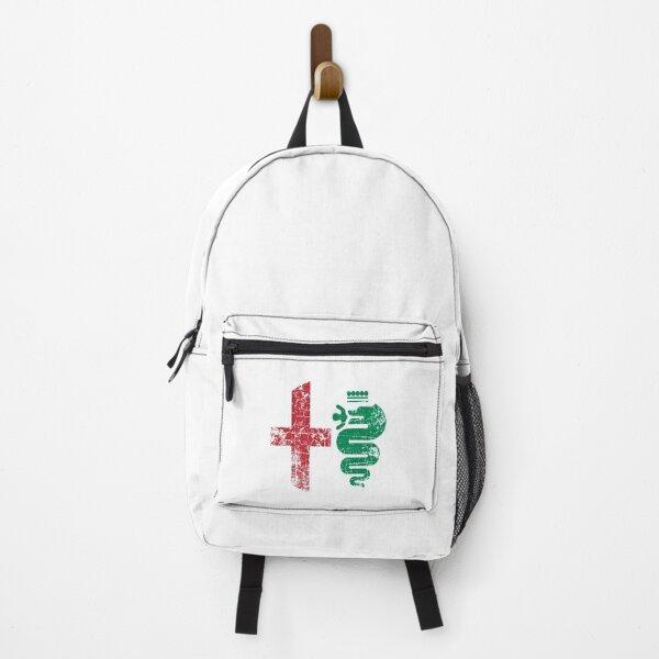 Grunge Alfa Romeo Logo Backpack