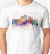 Denver V2 skyline in watercolor background Unisex T-Shirt