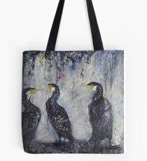 Three's a Crowd, Cormorants Scape Tote Bag