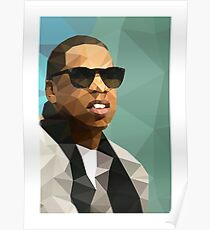Jay-Z Low Poly Art Poster