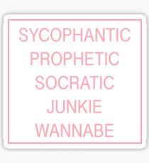 The 1975 Lyrics Sticker