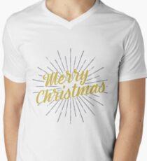 Merry Christmas Typography Concept Men's V-Neck T-Shirt