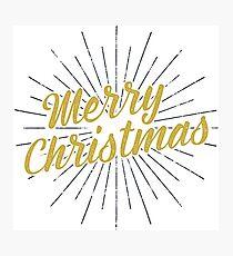 Merry Christmas Typography Concept Photographic Print