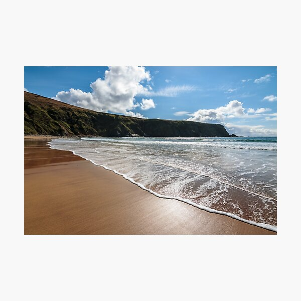 The Silver Strand, a horse-shoe shaped beach situated at Malin Beg, near Glencolmcille, in south-west County Donegal, Ireland Photographic Print