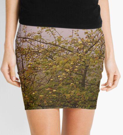 Foggy morning apple tree Mini Skirt