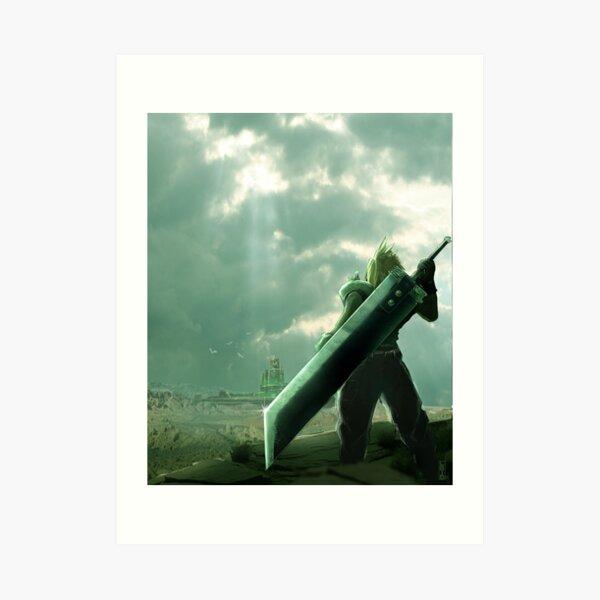 To Midgar - Final Fantasy VII Concept Art Art Print