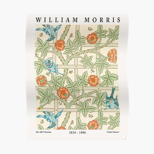 William Morris Treillis Textile Pattern Poster