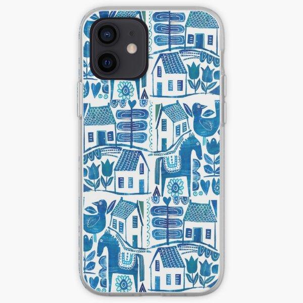 Blue Scandi iPhone Soft Case