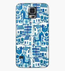 Blue Scandi Case/Skin for Samsung Galaxy