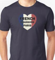 Französisch Chansons Paris Herz Slim Fit T-Shirt