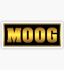 Vintage gold moog synth Sticker