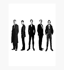 Sherlock cast in black and white Photographic Print