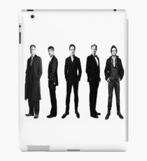 Sherlock cast in black and white iPad Case/Skin