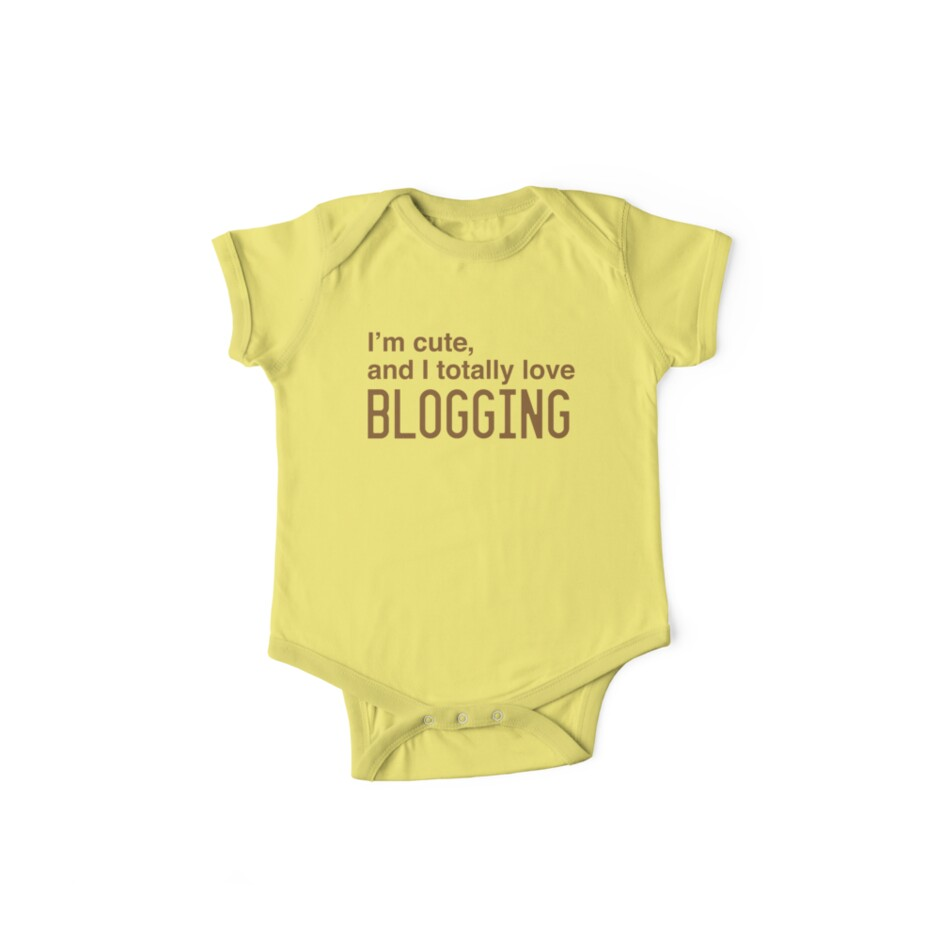 I'm cute, and I totally love blogging by jazzydevil