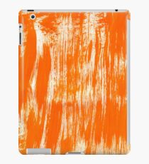 Orange Paint Brush iPad Case/Skin