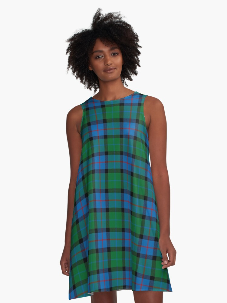 'Flowers Of Scotland Tartan' A-Line Dress by thecelticflame