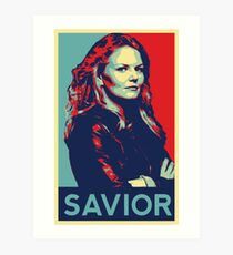Emma Swan (Obama campaign poster) Art Print