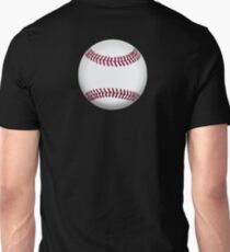 BASEBALL, BALL, SOFTBALL, Pitch, Pitcher, Sport, Game, Bat and Ball game, on BLACK Unisex T-Shirt