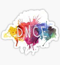 DNCE splatter Sticker