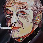 Jack Nicholson Portrait by Giselle Luske