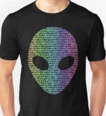 Coloured Alien Typograph Unisex T-Shirt