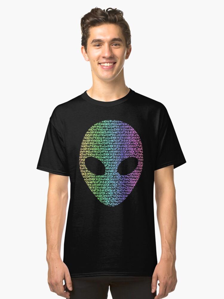 Coloured Alien Typograph