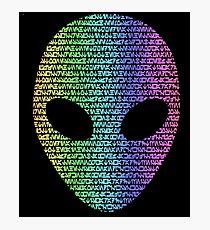 Coloured Alien Typograph Photographic Print