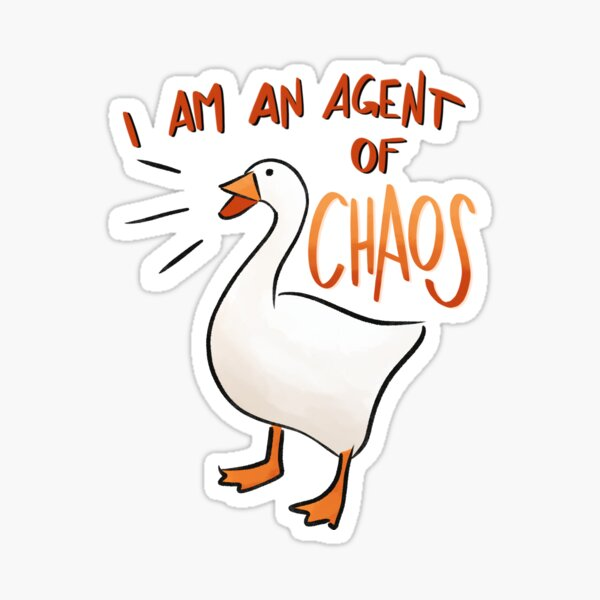 Untitled Goose Game: Agent of Chaos Sticker