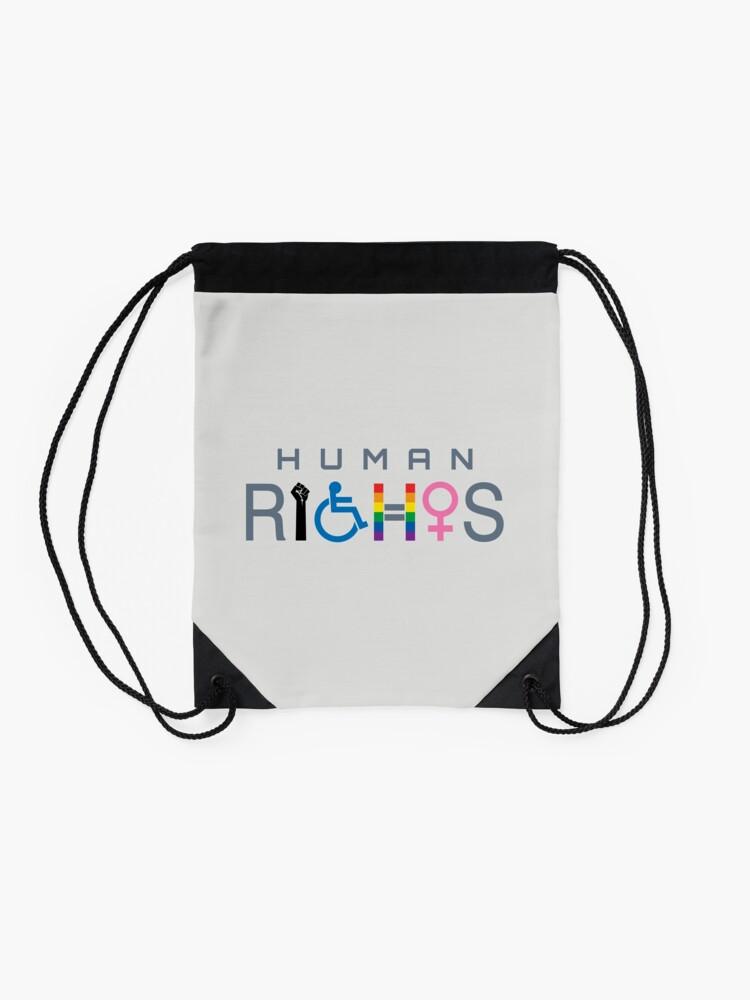 Alternate view of Human Rights Drawstring Bag