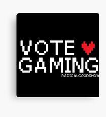 VOTE GAMING! Canvas Print