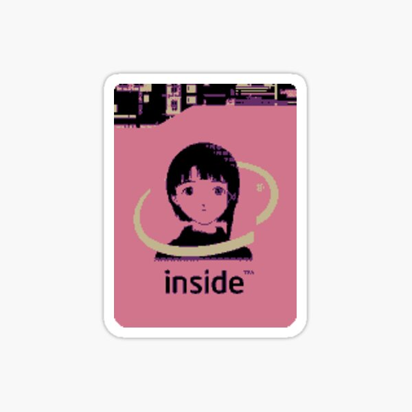 Lain Inside (size accurate) Sticker