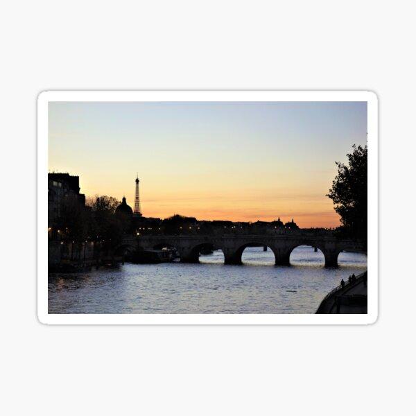 Pont-Neuf at sunset, Paris Sticker