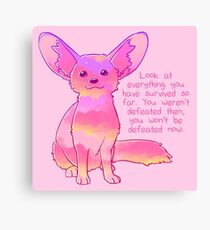 """You Won't Be Defeated Now"" Fennec Fox Canvas Print"