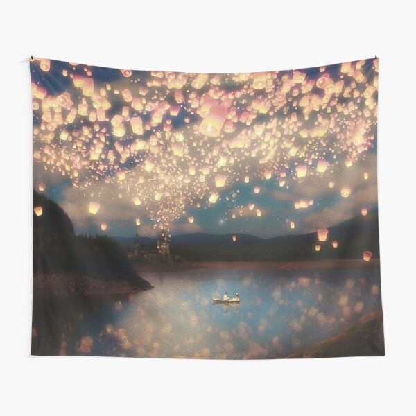 Wish Lanterns for Love Tapestry