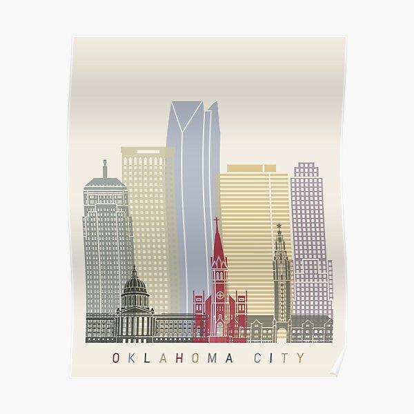 Oklahoma City skyline poster Poster