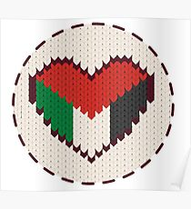 Palestine knitted heart  Poster