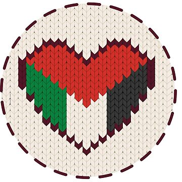 Palestine knitted heart  by Farisb