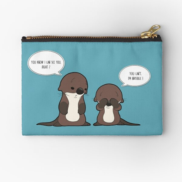 Invisible Otter Zipper Pouch