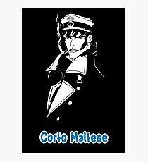 Corto Maltese hugo pratt comic retro vintage sailor venezia malta italy pirate movies tv shows Photographic Print